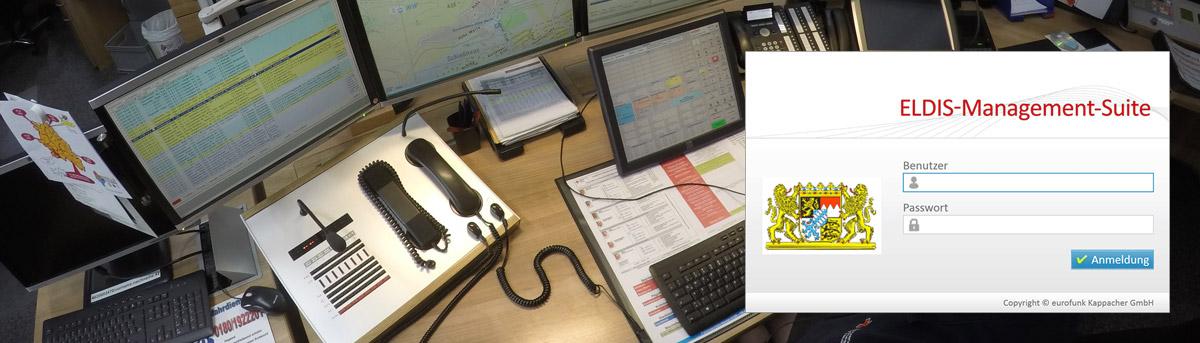 ILS Arbeitsplatz und Eldis-Management-Suite Login-Fenster