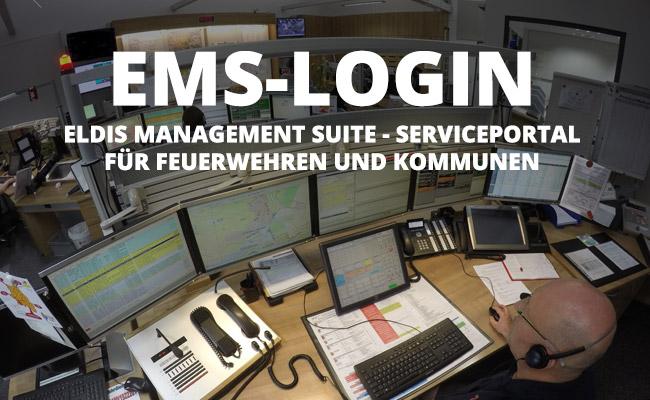 ILS Arbeitsplatz - EMS-Login Eldis-Management-Suite Serviceportal für Feuerwehren und Kommunen