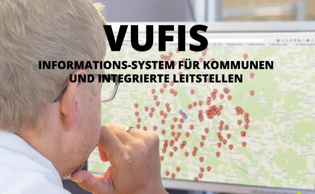 VuFIS Informations-System für Kommunen und Integrierte Leitstellen - Mann vor Monitor
