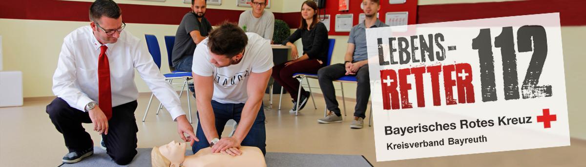 Lebensretter 112 - Personen beim erste Hilfe Kurs
